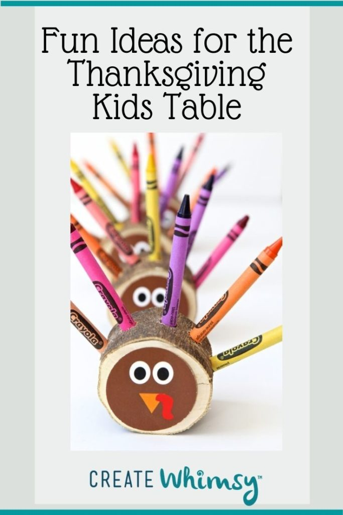 Thanksgiving Kids Table Pinterest Image 1