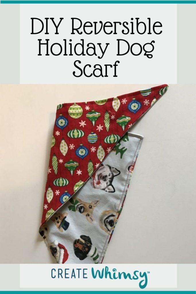 Holiday Dog Scarf Pinterest Image 1
