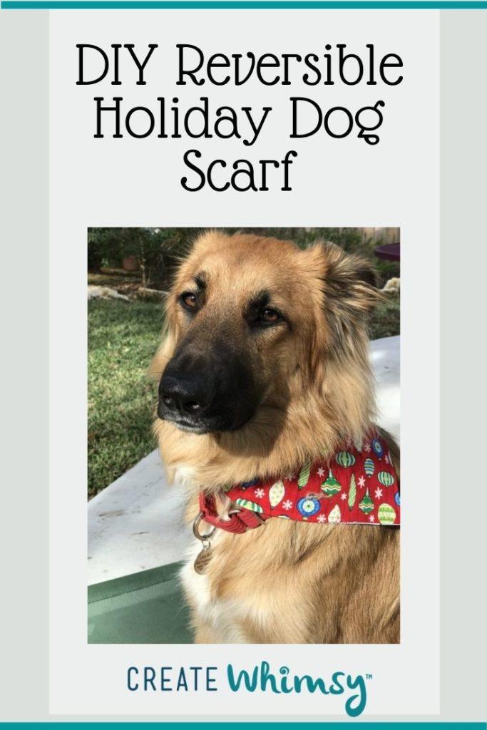 Holiday Dog Scarf Pinterest Image 2