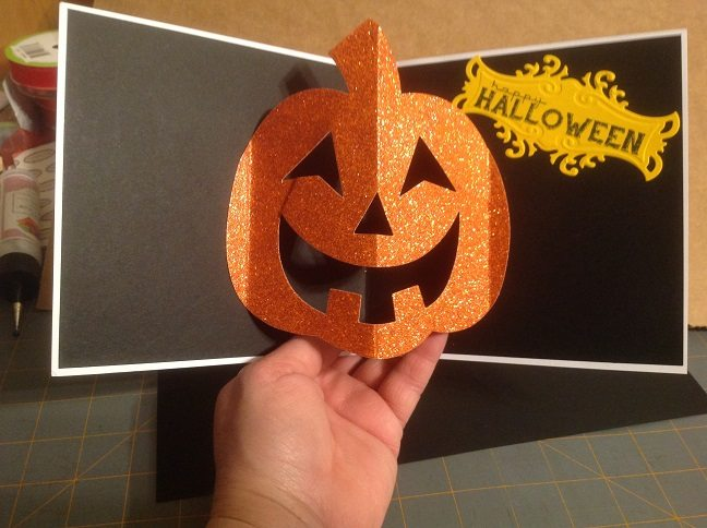 Inside of a Halloween card