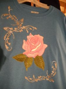 Embroidery on a shirt
