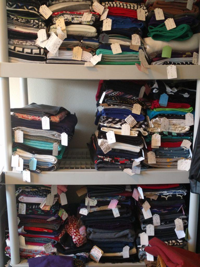 Melissa's fabric organization