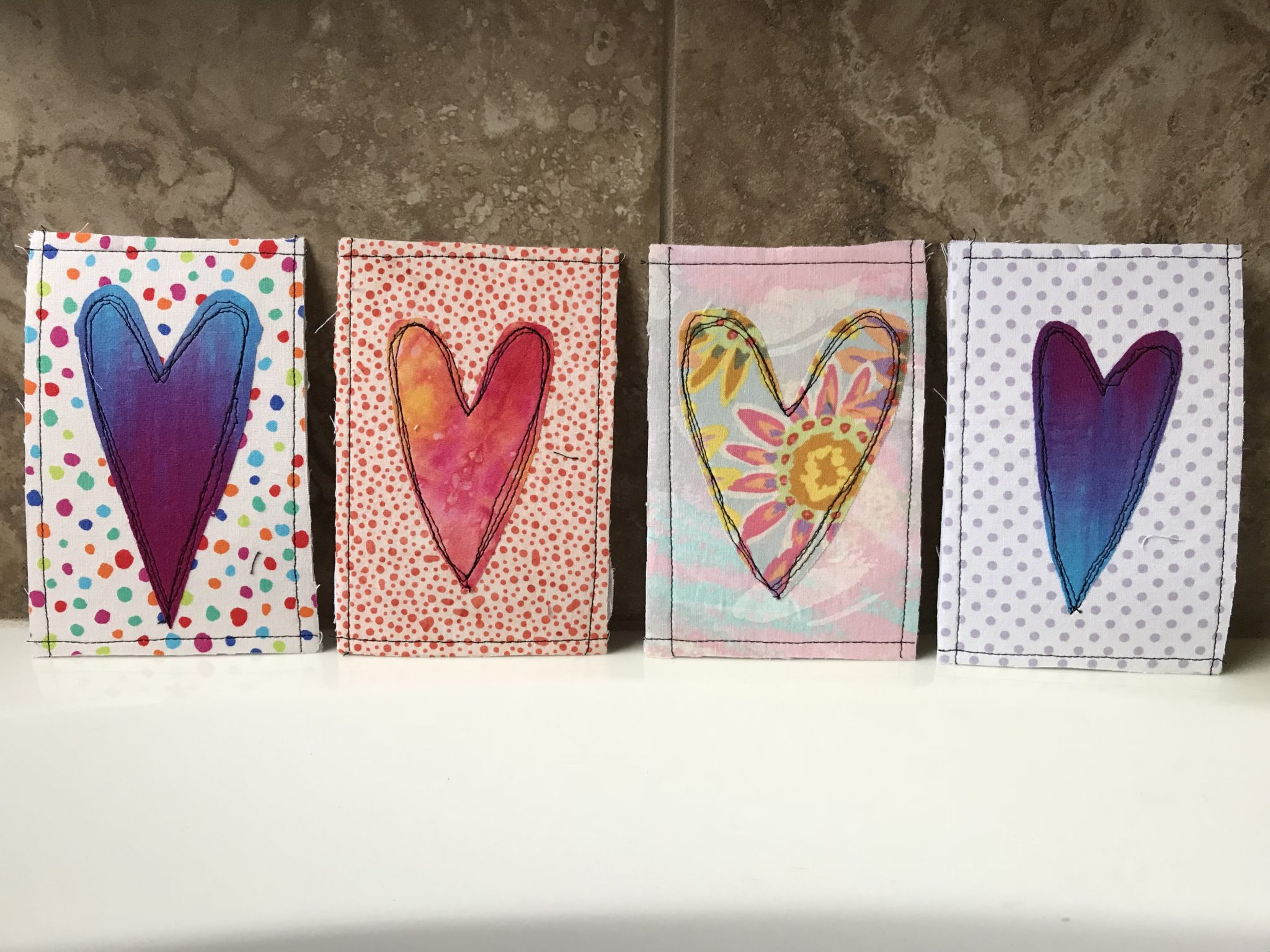 Diy Valentine Fabric Postcards Create Whimsy