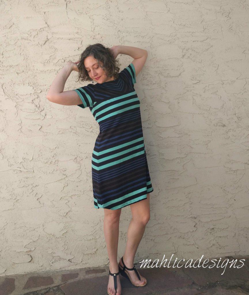 Shoreline 9 dress pattern designed by Melissa Evans