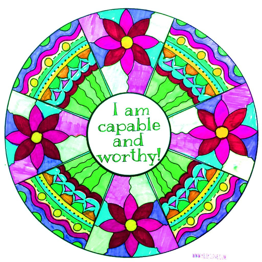 I am capable and worthy coloring page