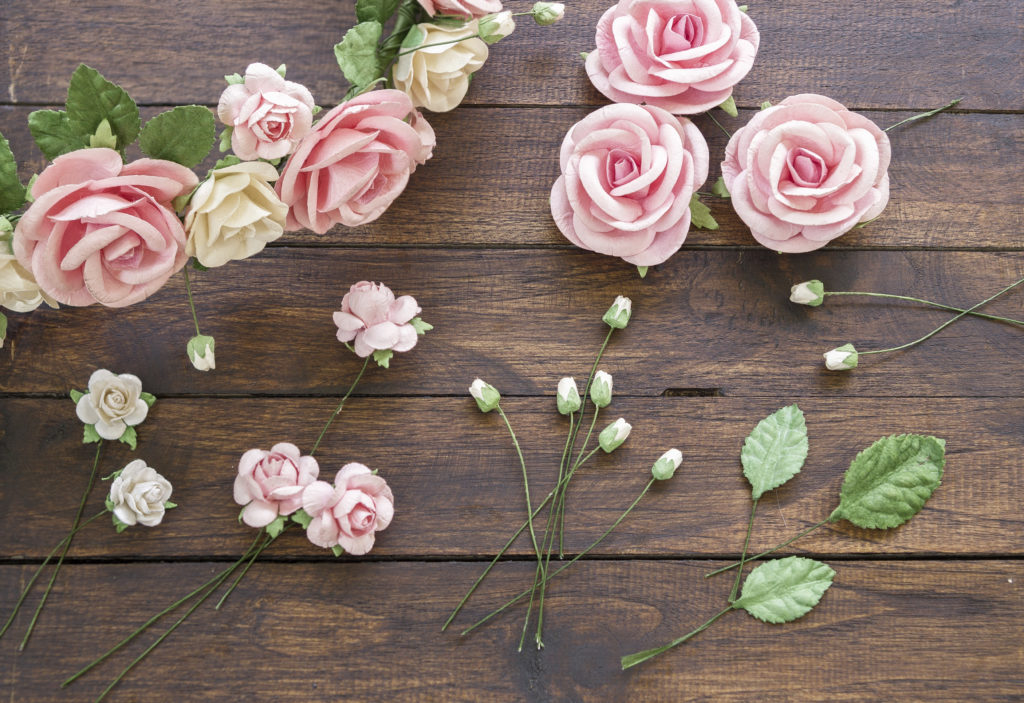 artificial flowers for wreath