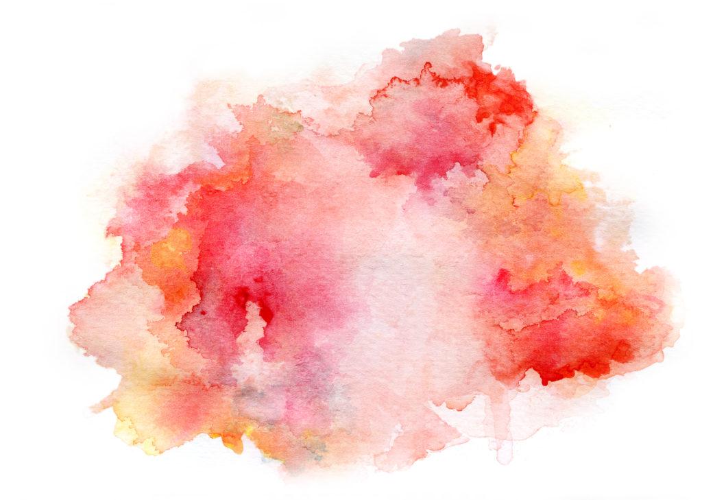 Eli Maor: red watercolor drawing ink