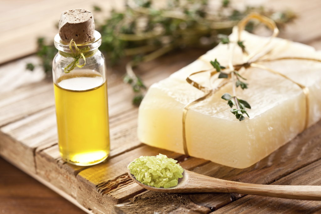 Eli Maor - Piece of natural soap with thyme.