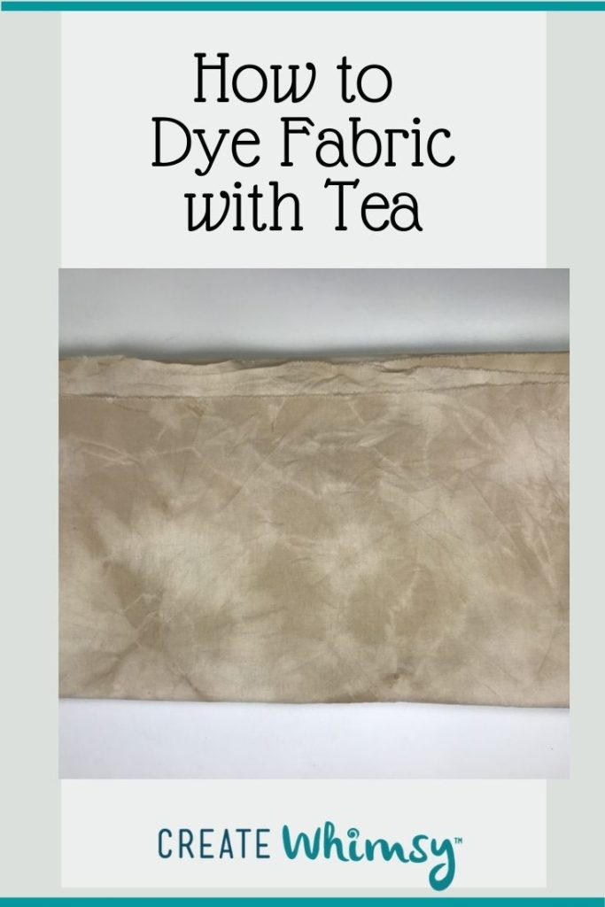 How to Dye Fabric with Tea Pin 1