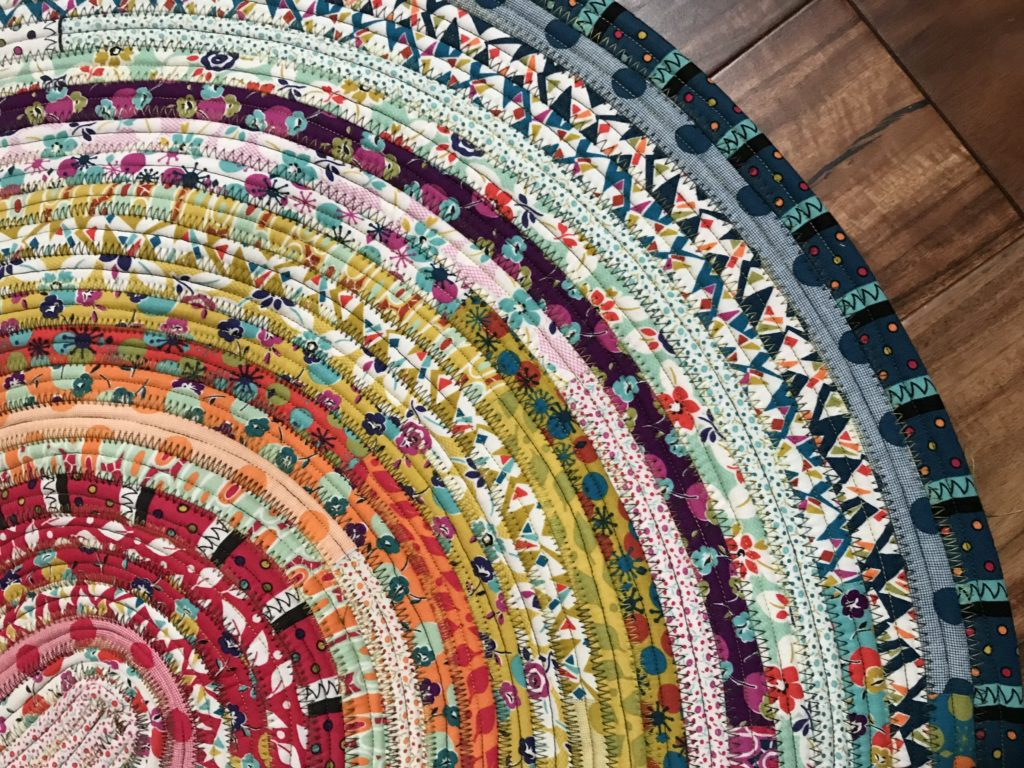 Finished jelly roll rug