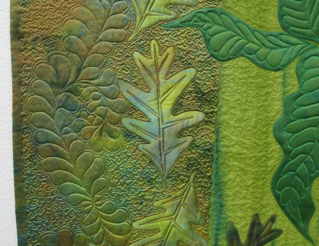 Woodlands, detail. Quilt by Frieda Anderson