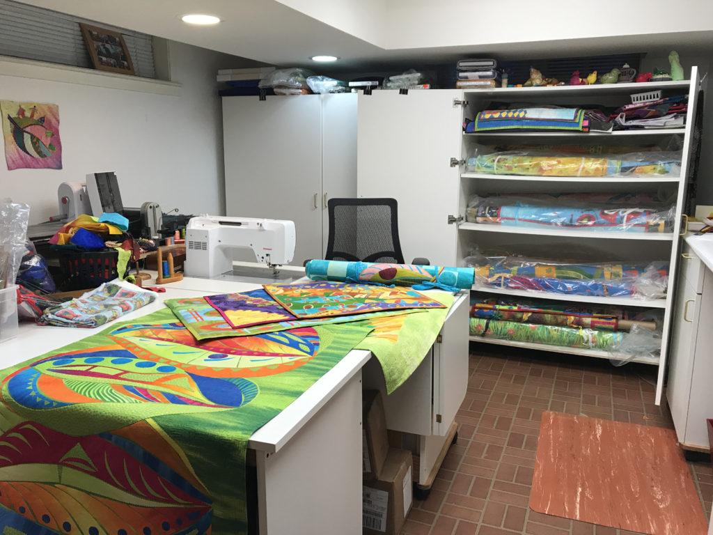 Laura Wasilowski, sewingroom