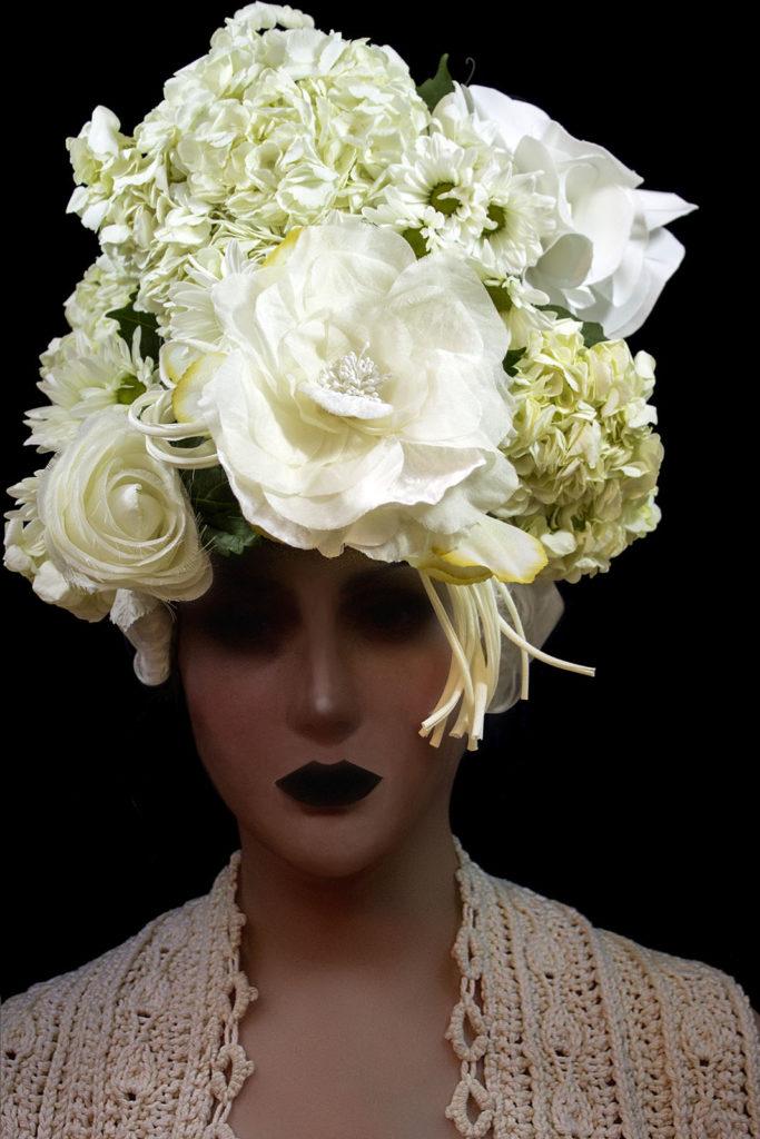 2017 Bride with flower headdress
