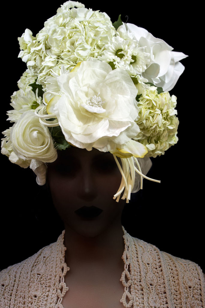 Francesca Penchant 2017 Bride with flower headdress (Shadow)