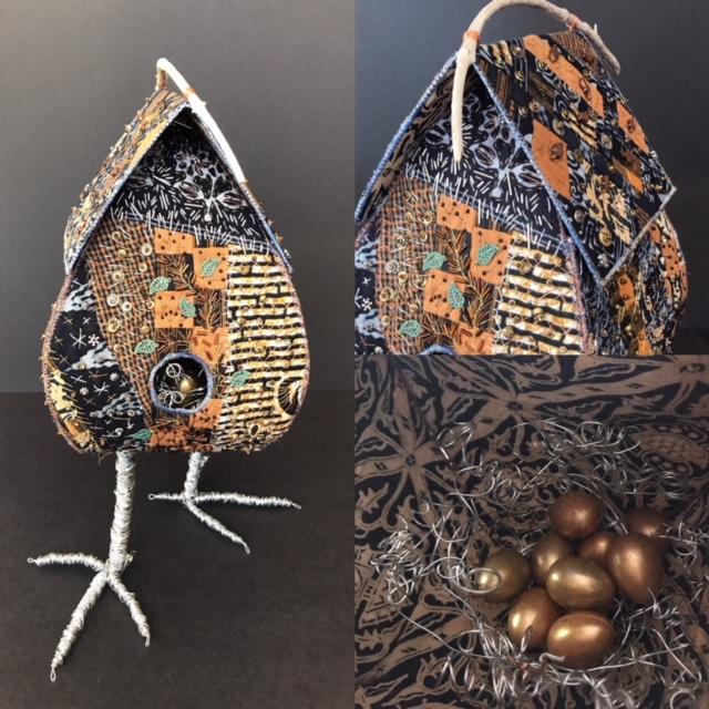 Bird houses by Pat Herkal