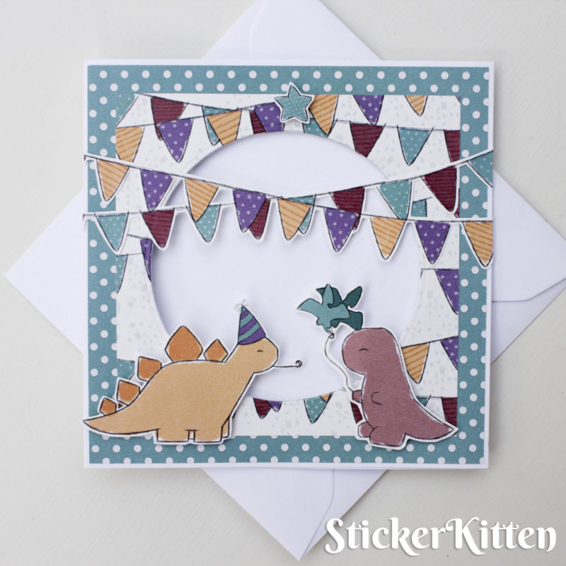 Birthday Dinos Card by StickerKitten