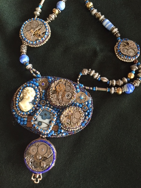 Beaded necklace #2 by Pat Herkal