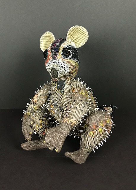 Cute little fiber and bead mouse by Pat