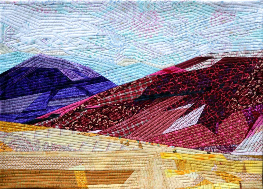 Painted Hills 1 art quilt