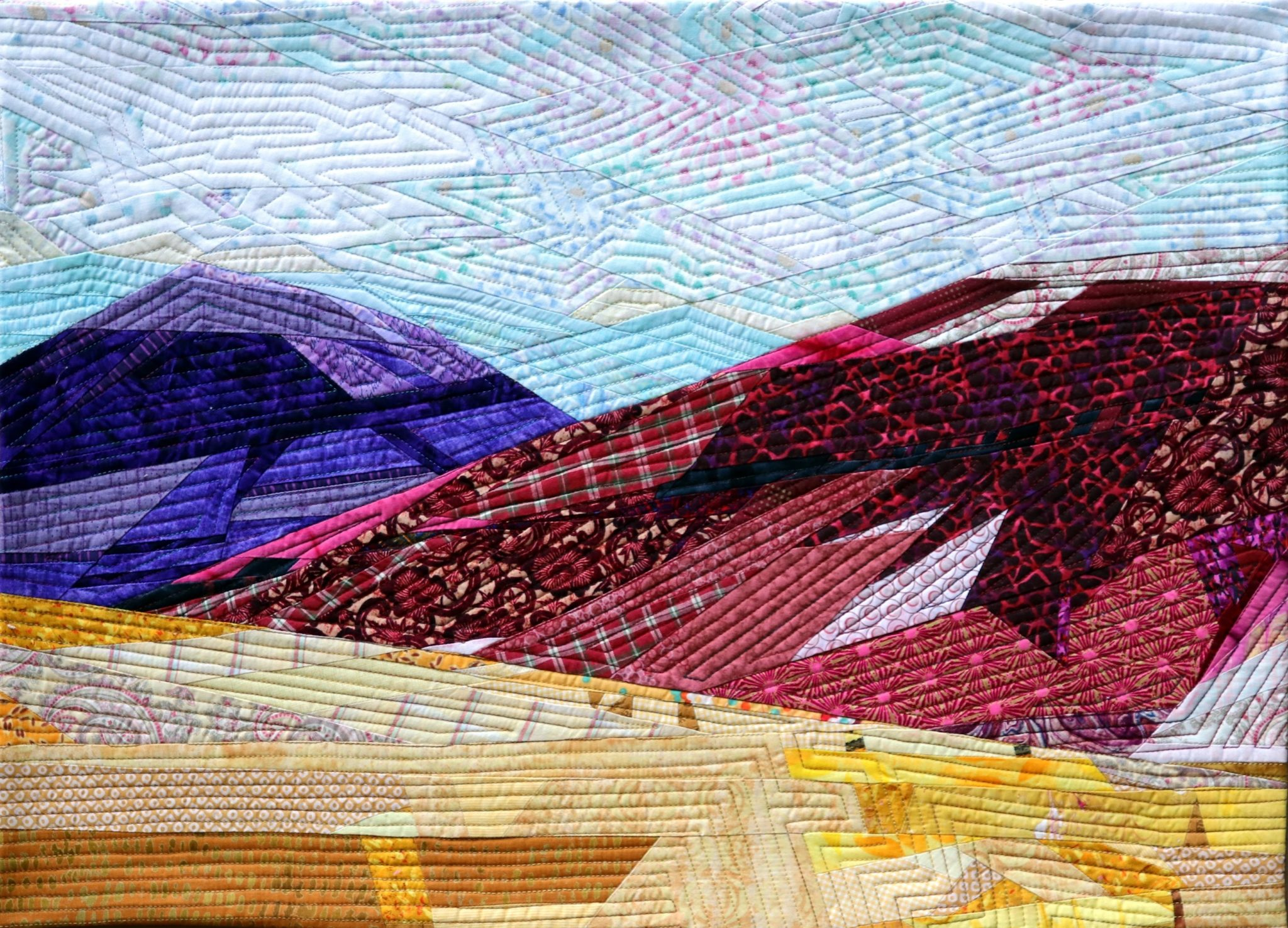 Painted Hills art quilt completed!