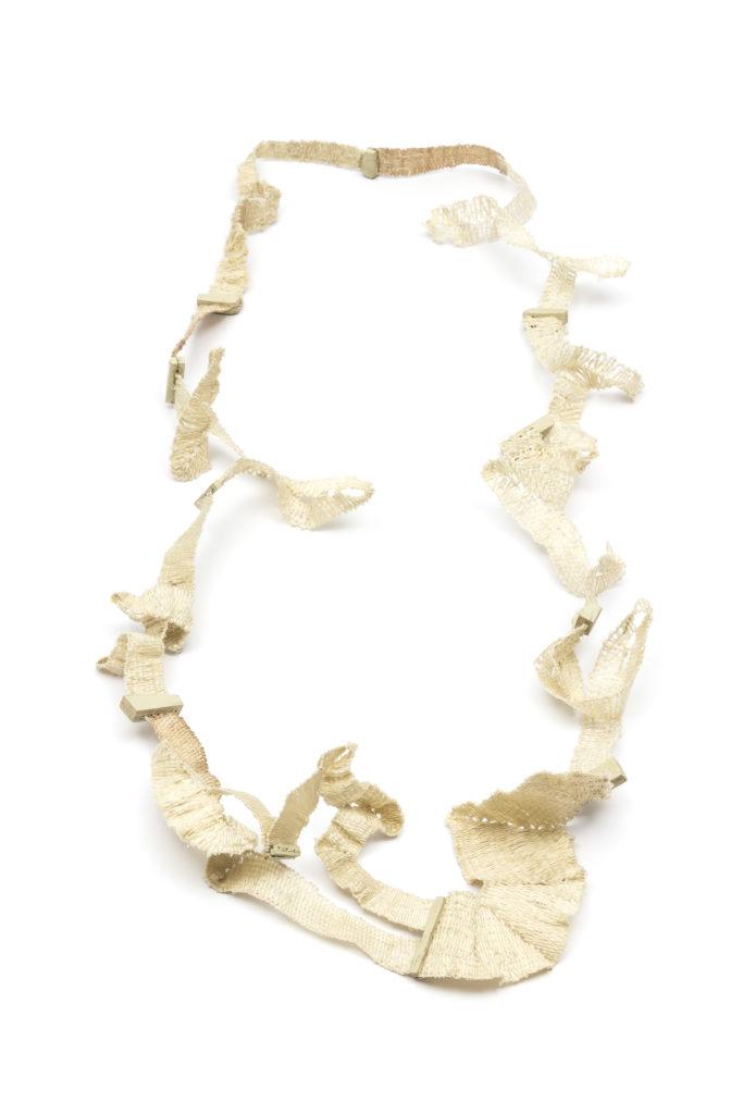 Fiber necklace