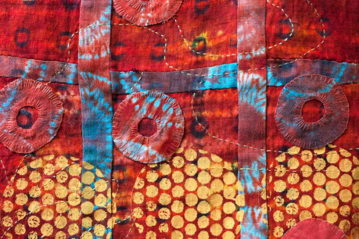 Catherine Kirsch Red and Yellow Quilt