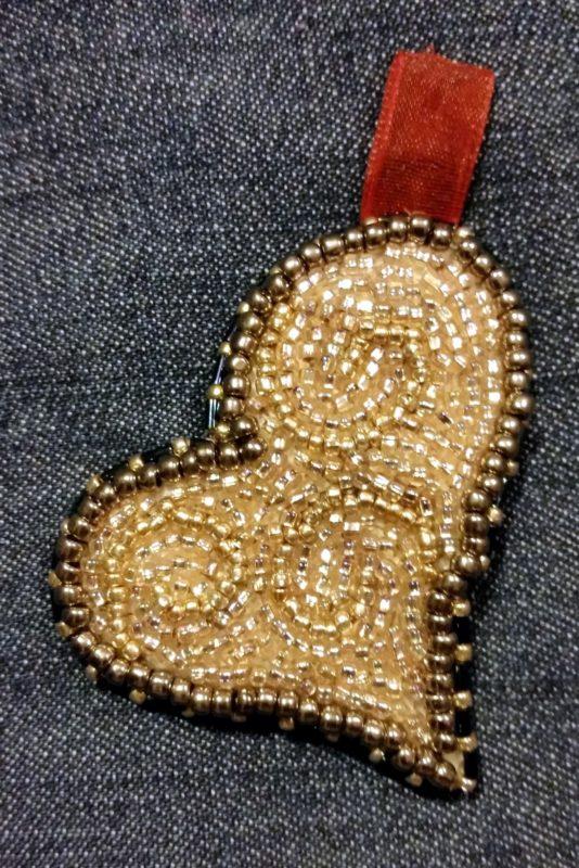 Beading Heart Pendant Finished