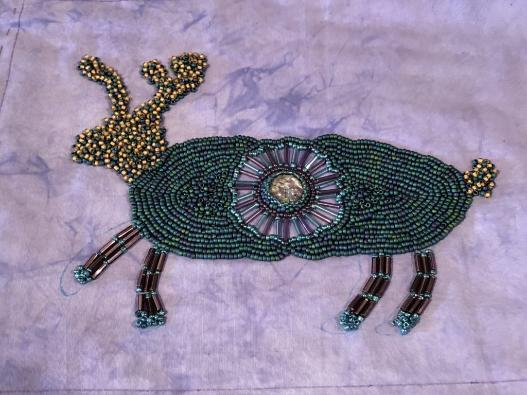 Beaded Deer by Martha Steinborn