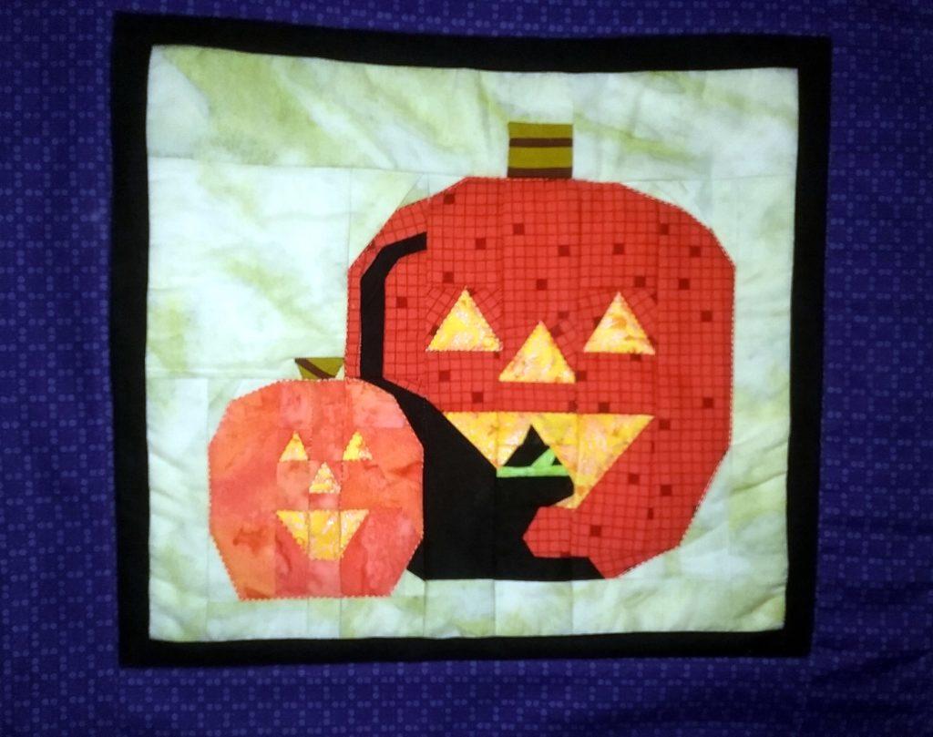 Halloween Black Cat and Jack O Lanterns Banner