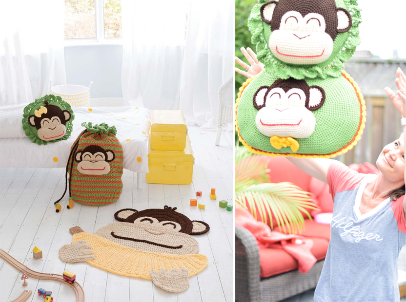 Monkey crochet items
