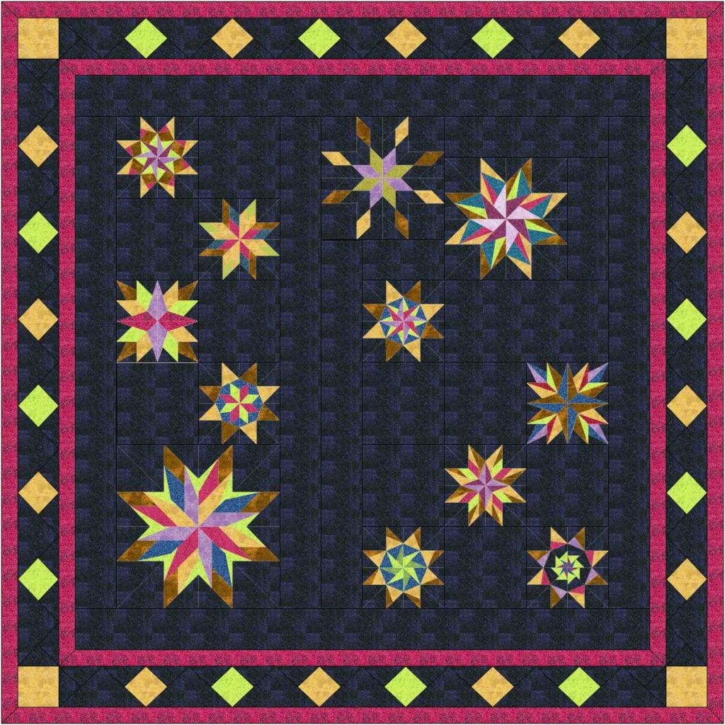 Field of stars quilt