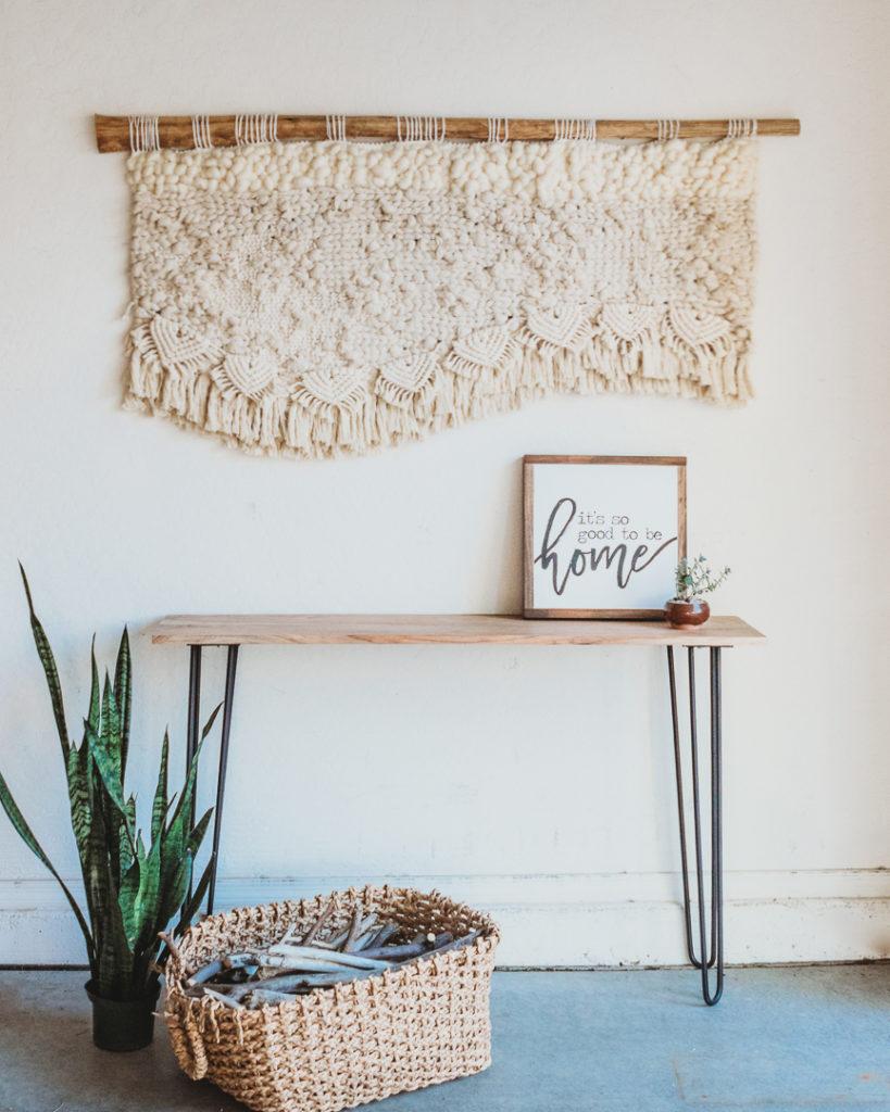 4 ft macrame tapestry
