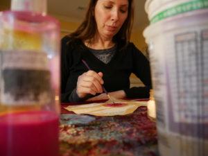 Karen Payton at work