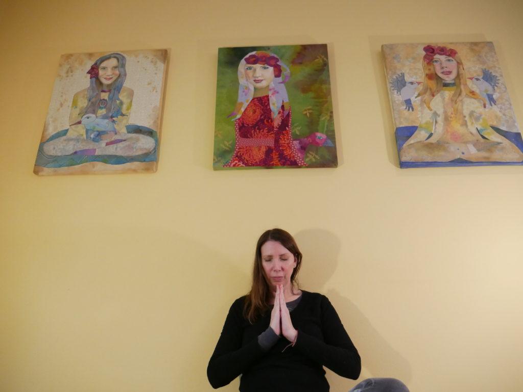 Karen Payton practicing yoga