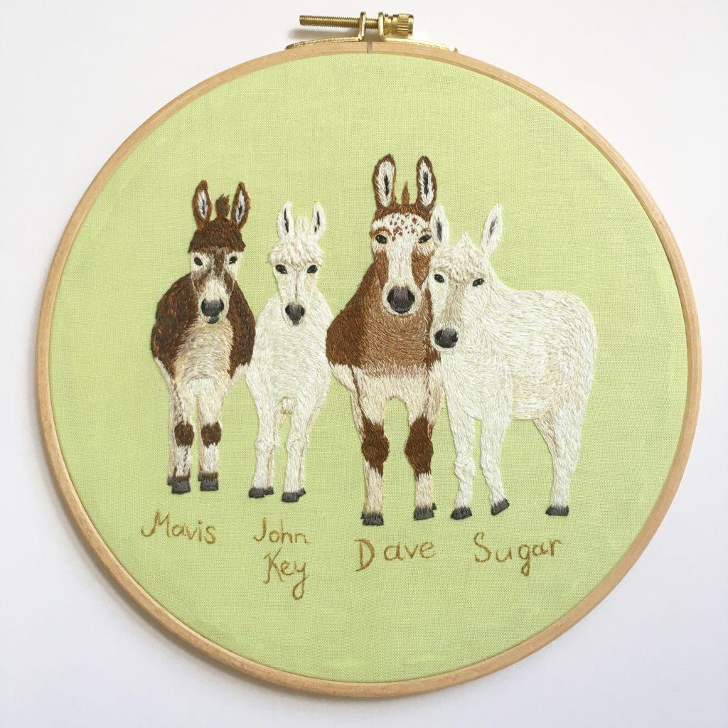 Donkey family from New Zealand by Oksana Kokovkina