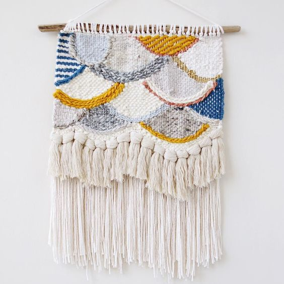 Blue and gold weaving
