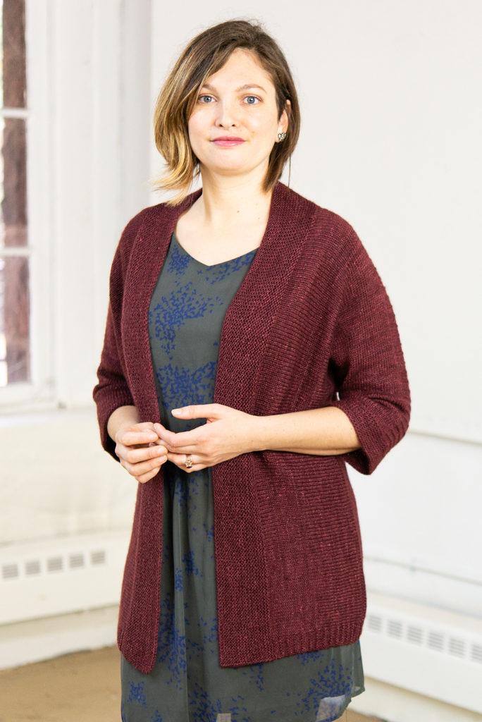 Sheffield Sweater in maroon