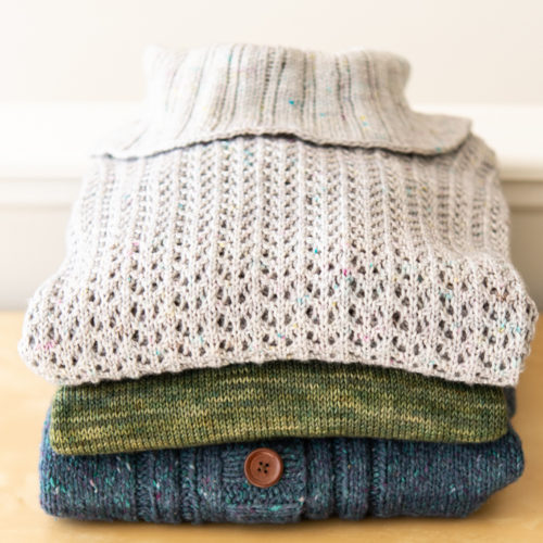 Trio of sweaters by Amy