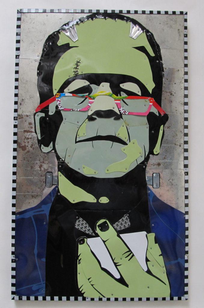 Frankenstein Tin Art