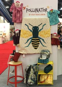 Pollinator in the RJR book at Fall Quilt Market