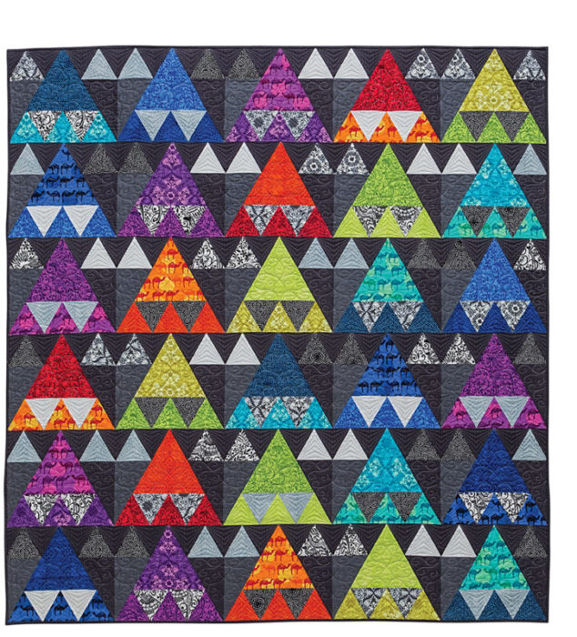 Bright Triangle Quilt