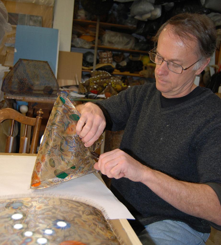 Lanny Bergner in the studio