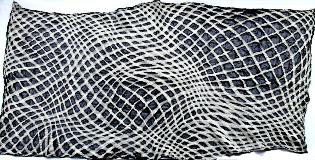 Flóra Carlile-Kovács off-grid nunofelt scarf