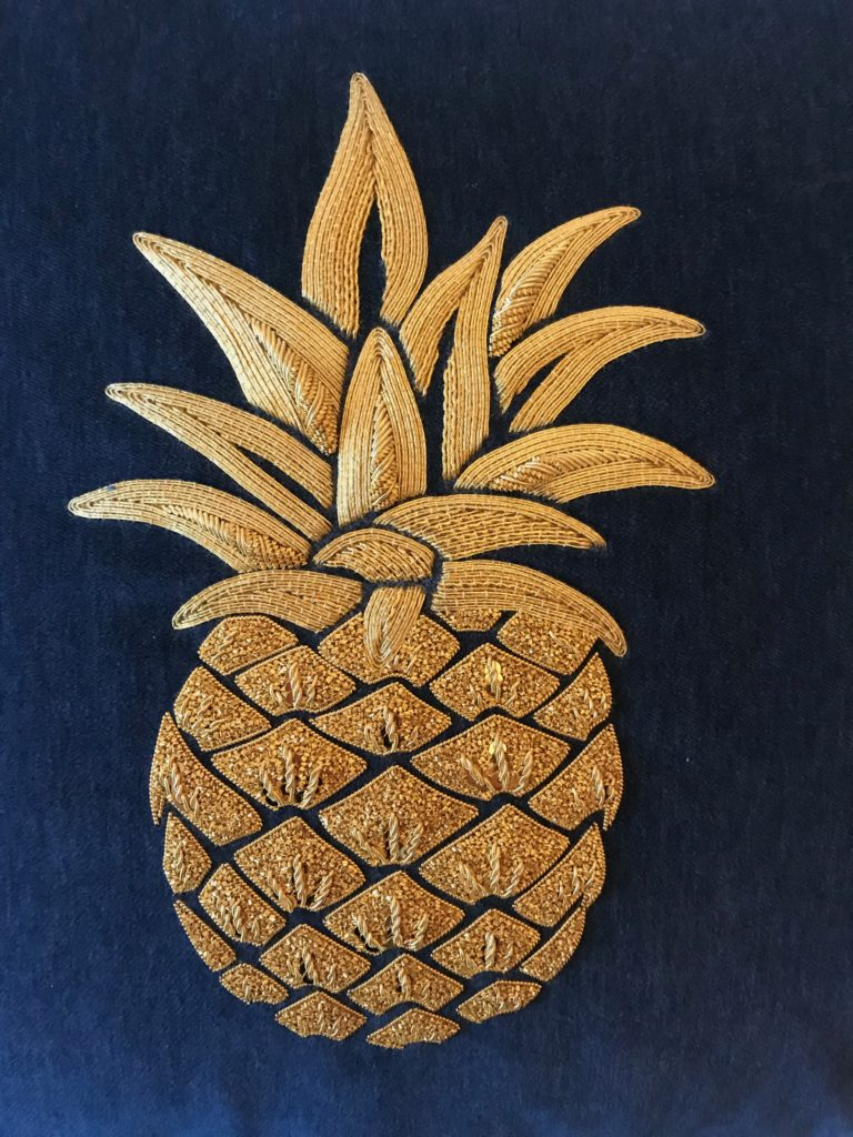 Goldwork Pineapple