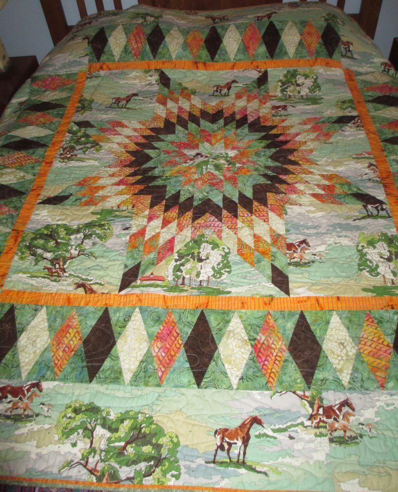 Georgia Bonesteel green horse quilt