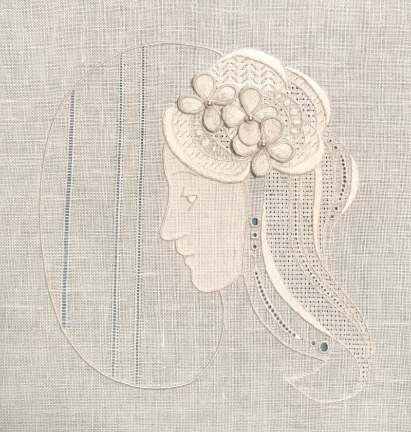 Whitework Art Nouveau by Sara Rickards