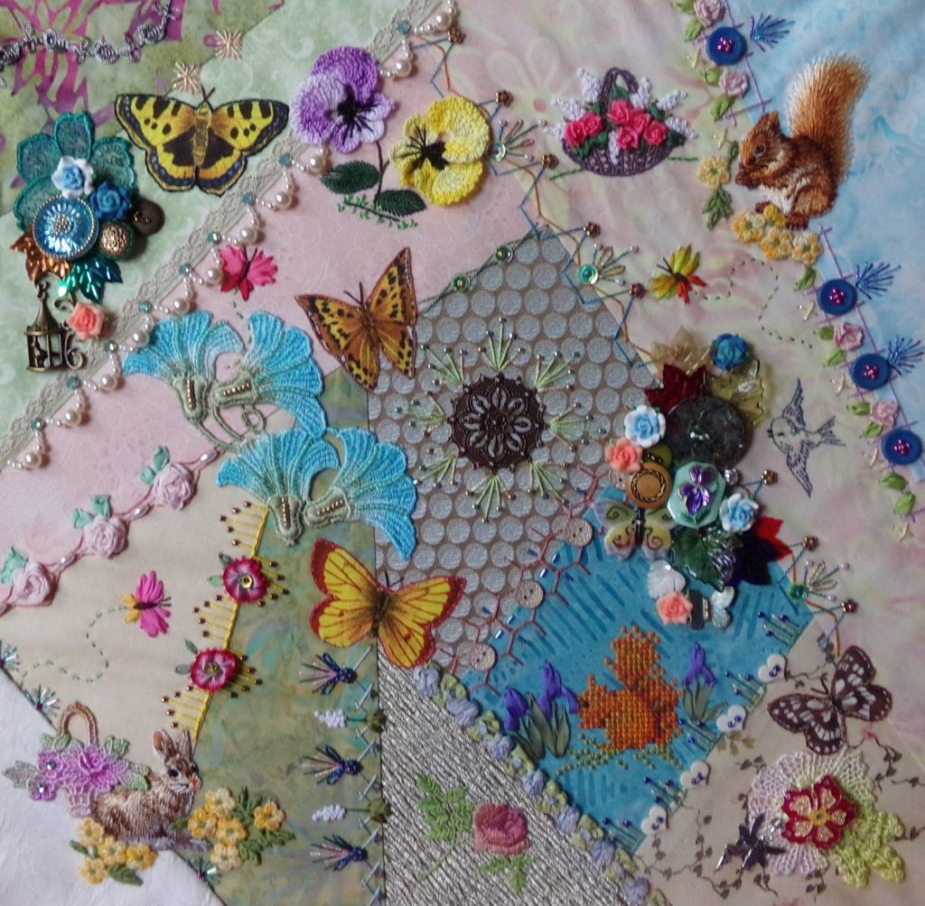 Butterfly Crazy Quilting