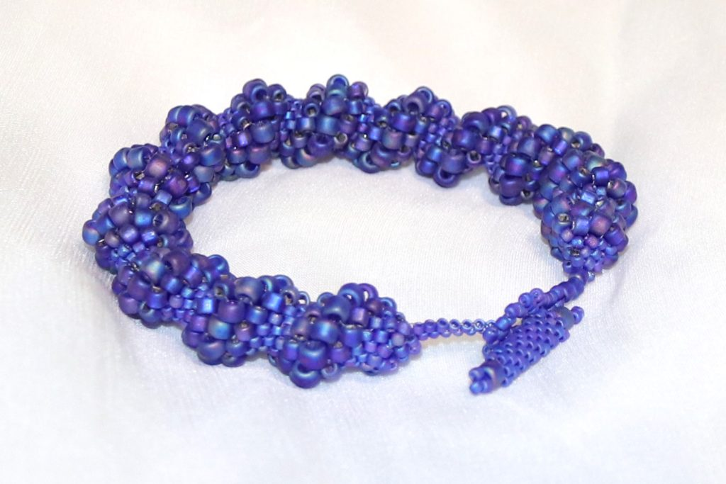 Blue Cellini Spiral Bracelet with Toggle