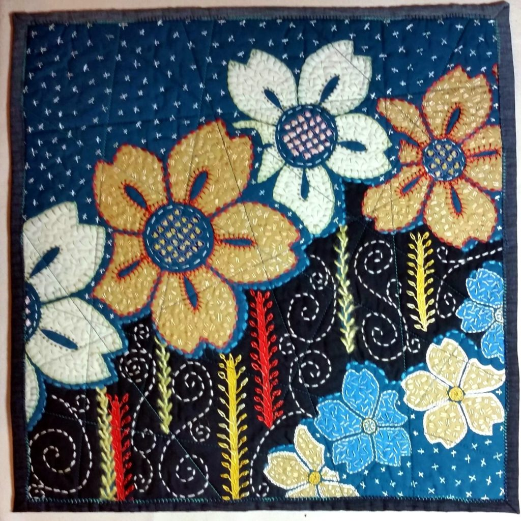 Embroidered Yukata Quilt