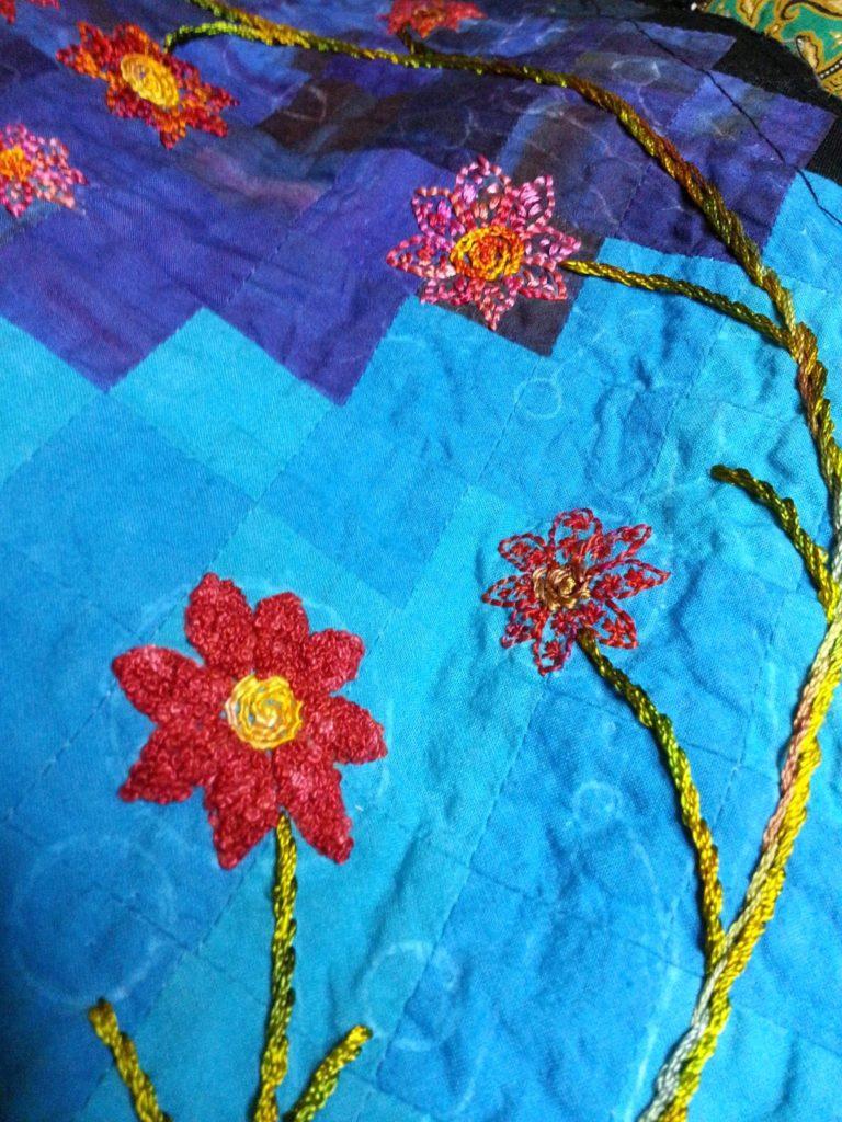 Stitches on the fibonacci quilt
